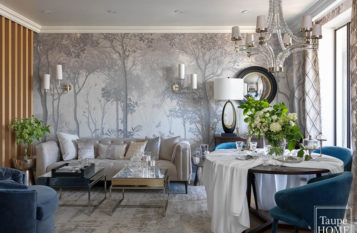 Interior design of the apartment of 160 m² – 50 shades of gray